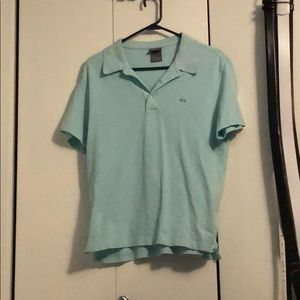 Lacoste baby blue/mint polo